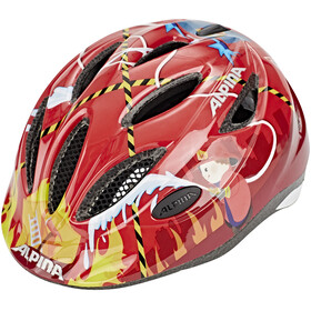 Alpina Gamma 2.0 Kinderhelm red firefighter